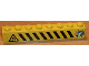 Part No: 3008pb039  Name: Brick 1 x 8 with Black and Yellow Danger Stripes, Shuttle Right, Flame Left Pattern (Sticker) - Set 6459
