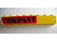 Part No: 3008pb095  Name: Brick 1 x 8 with Black 'COMPANY' on Red Pattern (Sticker) - Set 364
