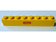 Part No: 3008pb124  Name: Brick 1 x 8 with Train Logo Red Pattern (Sticker) - Set 4552
