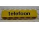 Part No: 3009pb092  Name: Brick 1 x 6 with Black 'telefoon' Pattern (Sticker) - Set 1590-2