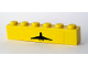 Part No: 3009pb124  Name: Brick 1 x 6 with Black Airplane Pattern (Sticker)