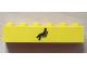Part No: 3009pb166  Name: Brick 1 x 6 with Black Train Waiting Room Pattern (Sticker) - Set 4554