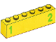Part No: 3009pb181  Name: Brick 1 x 6 with Green Number 1 on Left and Green Number 2 on Right Pattern (Stickers) - Set 7740