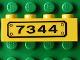 Part No: 3010pb002  Name: Brick 1 x 4 with Black '7344' Pattern (Sticker) - Set 7344