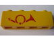 Part No: 3010pb025b  Name: Brick 1 x 4 with Red Mail Horn Pattern, Left Side