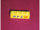 Part No: 3010pb040  Name: Brick 1 x 4 with Black 'R.E.S.' and Red 'Q' on Yellow Background Pattern (Sticker) - Set 6479