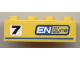 Part No: 3010pb104R  Name: Brick 1 x 4 with Black '7' and 'ENgyne' Pattern Model Right side (Sticker) - Set 8124