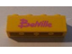 Part No: 3010pb109  Name: Brick 1 x 4 with Dark Pink 'Belville' Pattern (Sticker) - Set 5848