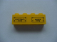 Part No: 3010pb116  Name: Brick 1 x 4 with 'ELECTRICS' and 'WATER' and Bolts Pattern (Sticker) - Set 7633
