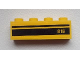 Part No: 3010pb169  Name: Brick 1 x 4 with '816' and Black Stripes Pattern (Sticker) - Set 9486