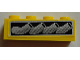Part No: 3010pb180L  Name: Brick 1 x 4 with Vehicle Exhaust Pipes Pattern Model Left Side (Sticker) - Set 8166