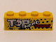 Part No: 3010pb214  Name: Brick 1 x 4 with 'TOP HEAD TRANSPORT' Pattern (Sticker) - Set 9093