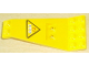 Part No: 30118pb02  Name: Wing Plate Bi-level 8 x 4 and 2 x 3 1/3 Up with Black 'R.E.S.' and Red 'Q' on Yellow Triangle with Black Border Pattern (Sticker) - Set 6473