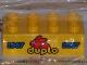 Part No: 3011pb018  Name: Duplo, Brick 2 x 4 with Duplo 1967 - 2007 40th Anniversary Pattern