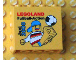 Part No: 30144pb050  Name: Brick 2 x 4 x 3 with Legoland Fußball-Action Juni 2008 Pattern
