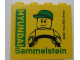 Part No: 30144pb099  Name: Brick 2 x 4 x 3 with HYUNDAI Sammelstein 2011 Green Pattern