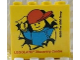 Part No: 30144pb105  Name: Brick 2 x 4 x 3 with Legoland Discovery Centre 2010 Minifigure Breaking through Wall Pattern