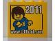 Part No: 30144pb112  Name: Brick 2 x 4 x 3 with www.LEGOclub.com 2011 and Max Pattern