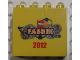 Part No: 30144pb115  Name: Brick 2 x 4 x 3 with LEGO Fabrik 2012 Pattern