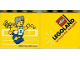 Part No: 30144pb129  Name: Brick 2 x 4 x 3 with Legoland Windsor Resort and Olympic Athlete #5 pattern