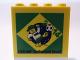 Part No: 30144pb153  Name: Brick 2 x 4 x 3 with Legoland Deutschland Resort 2014 World Cup Brazil Pattern