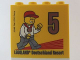 Part No: 30144pb155  Name: Brick 2 x 4 x 3 with Besuchsmeister 5 Bronze 2014 Legoland Deutschland Resort Pattern