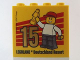 Part No: 30144pb157  Name: Brick 2 x 4 x 3 with Besuchsmeister 15 Gold 2014 Legoland Deutschland Resort Pattern