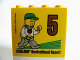 Part No: 30144pb166  Name: Brick 2 x 4 x 3 with Besuchsmeister 5 Bronze 2015 Legoland Deutschland Resort Pattern