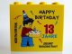 Part No: 30144pb169  Name: Brick 2 x 4 x 3 with Happy Birthday 13 Jahre Legoland Deutschland Resort Pattern