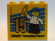 Part No: 30144pb186  Name: Brick 2 x 4 x 3 with Besuchsmeister 15 Gold 2016 Legoland Deutschland Resort Pattern