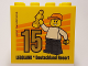 Part No: 30144pb200  Name: Brick 2 x 4 x 3 with Besuchsmeister 15 Gold 2017 Legoland Deutschland Resort Pattern