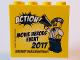 Part No: 30144pb211  Name: Brick 2 x 4 x 3 with Action! Movie Heroes Event 2017 LEGOLAND Deutschland Resort Pattern