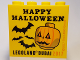 Part No: 30144pb217  Name: Brick 2 x 4 x 3 with Happy Halloween Legoland Dubai 2017 Pattern