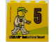 Part No: 30144pb229  Name: Brick 2 x 4 x 3 with Besuchsmeister 5 Bronze 2018 Legoland Deutschland Resort Pattern