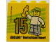 Part No: 30144pb231  Name: Brick 2 x 4 x 3 with Besuchsmeister 15 Gold 2018 Legoland Deutschland Resort Pattern
