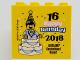 Part No: 30144pb234  Name: Brick 2 x 4 x 3 with 16 Happy Birthday 2018 Legoland Deutschland Resort Pattern