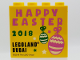 Part No: 30144pb254  Name: Brick 2 x 4 x 3 with HAPPY EASTER 2018 LEGOLAND DUBAI Pattern