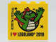 Part No: 30144pb265  Name: Brick 2 x 4 x 3 with I LOVE [heart] LEGOLAND 2019 Pattern