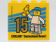 Part No: 30144pb270  Name: Brick 2 x 4 x 3 with Besuchsmeister 15 Gold 2019 Legoland Deutschland Resort Pattern