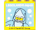 Part No: 30144pb285  Name: Brick 2 x 4 x 3 with LEGOLAND Japan and Shark Suit Guy Facing Front Pattern
