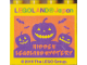 Part No: 30144pb286  Name: Brick 2 x 4 x 3 with LEGOLAND Japan and Jack O Lantern with Bat 'HIDDEN LEGOLAND MYSTERY' Pattern