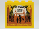 Part No: 30144pb287  Name: Brick 2 x 4 x 3 with HAPPY HALLOWEEN 2019 LEGOLAND Deutschland Resort Pattern