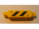 Part No: 30387pb002  Name: Hinge Brick 1 x 4 Locking, 9 Teeth with Black and Yellow Danger Stripes Pattern on Both Sides (Stickers) - Set 7633