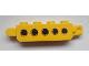 Part No: 30387pb007  Name: Hinge Brick 1 x 4 Locking, 9 Teeth with 5 Holes Pattern on Both Sides (Stickers) - Set 9486