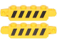 Part No: 30387pb014  Name: Hinge Brick 1 x 4 Locking, 9 Teeth with Black and Yellow Thin Danger Stripes (5 Black Stripes), Yellow Corners Pattern on Both Sides (Stickers) - Set 75172
