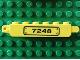 Part No: 30388pb001La  Name: Hinge Brick 1 x 6 Locking, 9 Teeth with Black '7248' on Transparent Background Pattern Model Left Side (Sticker) - Set 7248