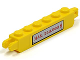 Part No: 30388pb005  Name: Hinge Brick 1 x 6 Locking, 9 Teeth with 'MAX. 250.000 $' Pattern (Sticker) - Set 5982