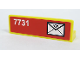 Part No: 30413pb007L  Name: Panel 1 x 4 x 1 with Mail Envelope and '7731' on Left Side Pattern (Sticker) - Set 7731