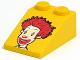 Part No: 30474pb05  Name: Slope 33 3 x 2 Smooth with McDonald's Ronald McDonald Pattern
