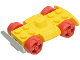 Part No: 30558c07  Name: Vehicle, Base 4 x 6 Racer Base with Red Wheels